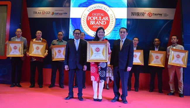 Kali Kedua, Royal Garden Spa Diganjar Penghargaan Indonesia Digital Popular Brand Award